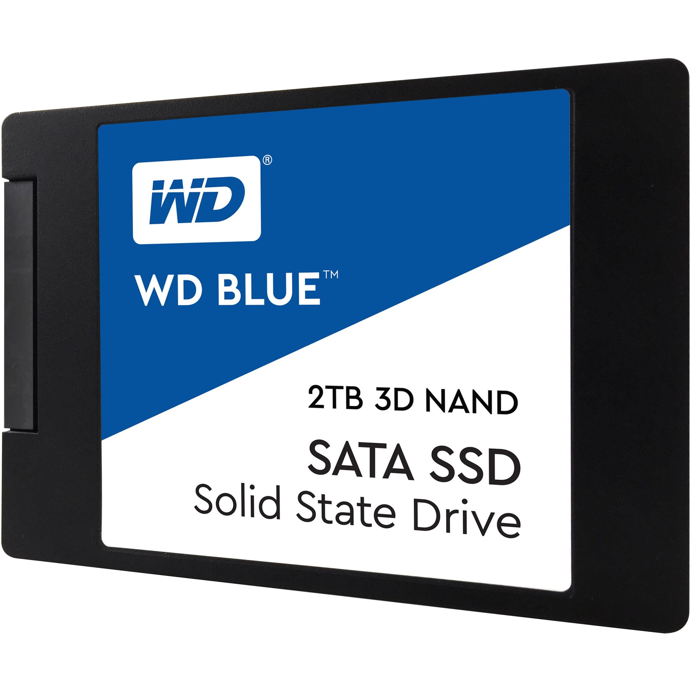 """WD BLUE 2TB 3D NAND SATA 2.5"""" 7mm SSD (Solid State Drive) - WDS200T2B0A"""