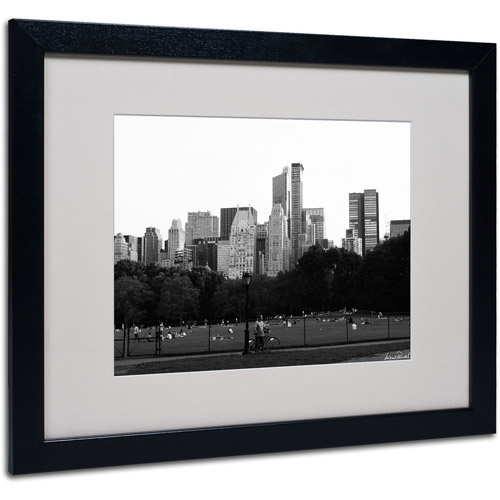 "Trademark Fine Art ""Sheep's Meadow"" Matted Framed Art by Miguel Paredes"