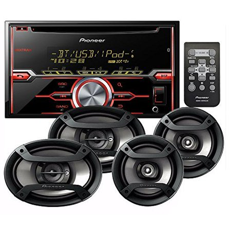 PIONEER FH-X720BT CD RECEIVER CD BLUETOOTH + PIONEER TS-695P 3-WAY 230 WATT SPEAKER SET+ PIONEER TS-165P 2-WAY 200 WATT SPEAKER