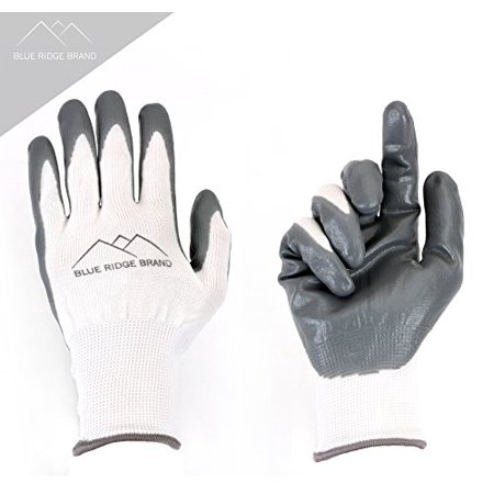 Nitrile Gardening Gloves - Blue Ridge Brand™  Nitrile Gardening Gloves - Men's and Women's Rubber Grip Gloves - Protective Garden Safety Gloves