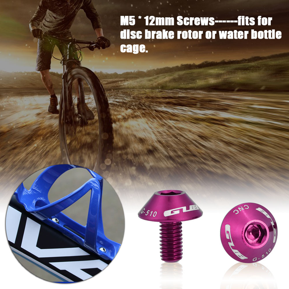M5*12 Bolt Outdoor Water Bottle Cage Screw Rack Mountain MTB Cycling Bike