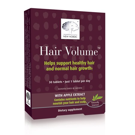 New Nordic Hair Volume Dietary Supplement Tablets, 30 count