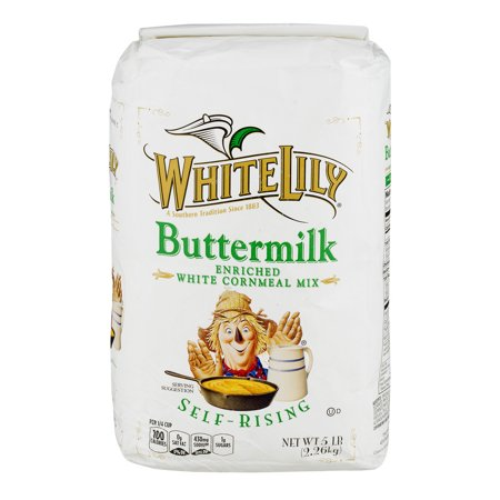 (3 Pack) White Lily Buttermilk Enriched White Cornmeal Mix Self-Rising, 5.0 (Easy Pound Cake With Self Rising Flour)