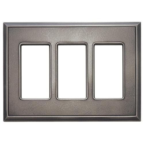 RQ Home Classic Magnetic Triple GFCI Wall Plate