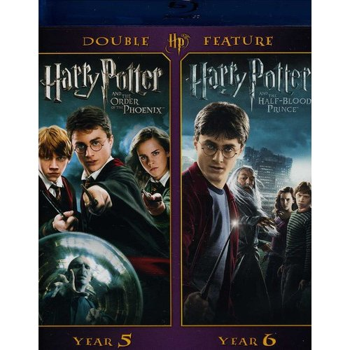 Harry Potter Double Feature: Years 5 & 6 - The Order Of The Phoenix / The Half-Blood Prince (Blu-ray) (Widescreen)