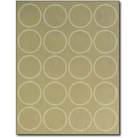 Gold Foil Certificate Seals for Laser Printers- 10 Sheets / 200 Labels