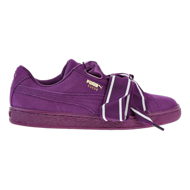 reputable site 24145 24678 Puma Suede Heart Satin II Women's Shoes Puma Black/Puma Black 364084-02  (9.5 B(M) US)