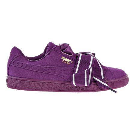 e64b7a81d10156 PUMA - Puma Suede Heart Satin II Women s Shoes Puma Black Puma Black  364084-02 (9.5 B(M) US) - Walmart.com