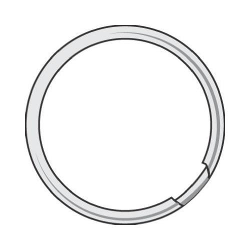 Hy-Ko Prod KB110 Split Key Ring, 1-3/4-In., 50-Pk.