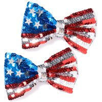Labor Day Uncle Sam Sequin Bow Ties, 2 pk.
