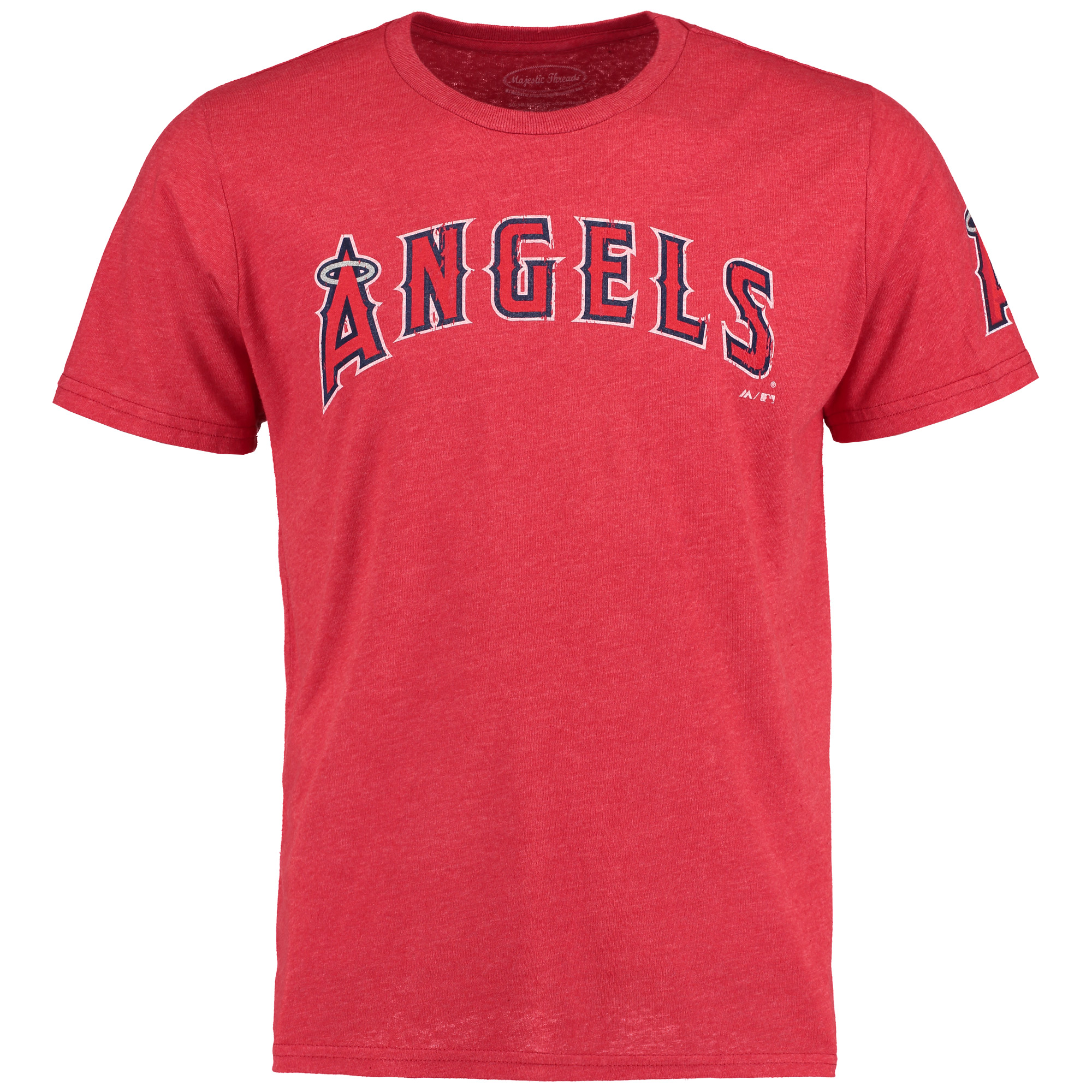 Los Angeles Angels Majestic Threads City Skyline Softhand Tri-Blend T-Shirt - Red