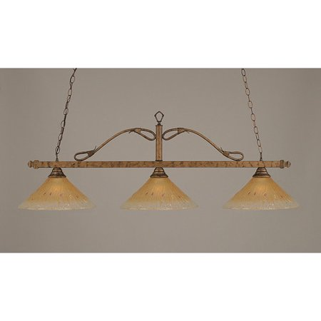 (Red Barrel Studio Neely 3-Light Wrought Iron Rope Kitchen Island Pendant)