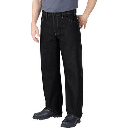 Genuine Dickies Men's Loose Fit Straight Leg Raw Denim Jeans