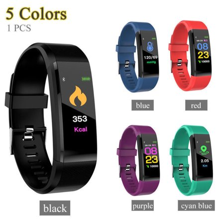 ad9588785 Bluetooth Sport Fitness Smart Watch Wrist Band Bracelet Heart Rate Monitor  Activity Tracker For Android iOS(Black) - Walmart.com
