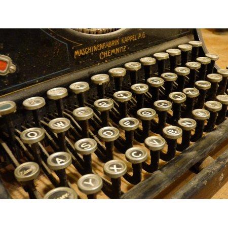 - LAMINATED POSTER Print Typewriter Letters Machine Keys Paper Font Poster Print 24 x 36