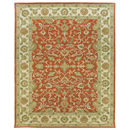 Due Process Stable Trading Company Ziegler Hand-Tufted Terracotta/Sand Area Rug
