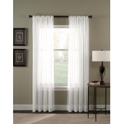 Solid Pure White Sheer Voile Window Curtain In 95