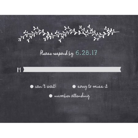 Mason Jar Standard RSVP - Wedding Invitations With Rsvp Cards Included