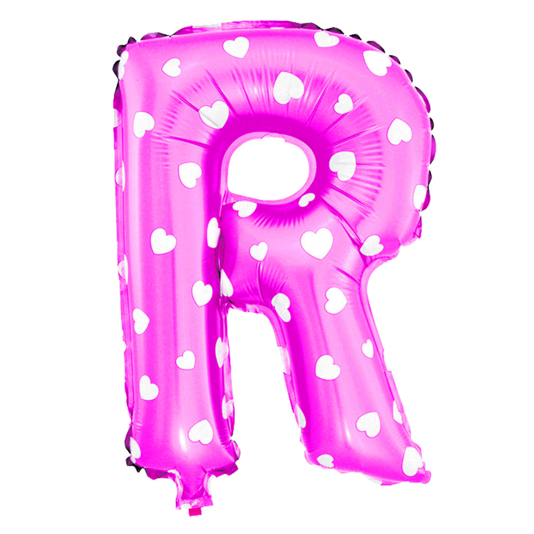 Unique Bargains Foil Letter R Heart Pattern Helium Balloon Birthday Wedding Decor Fuchsia 16""