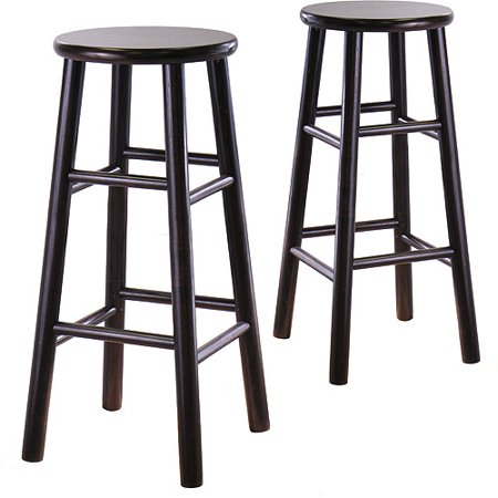 Beveled Seat Barstools 30   Set Of 2  Espresso