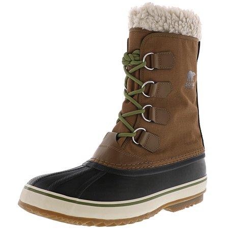 bc4daf97182 Sorel Men's 1964 Pac Nylon Nutmeg / Black Mid-Calf Snow Boot - 11.5M