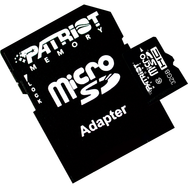 Patriot Memory 32GB microSDHC Class 10 Flash Card - Class 10 - 1 Card