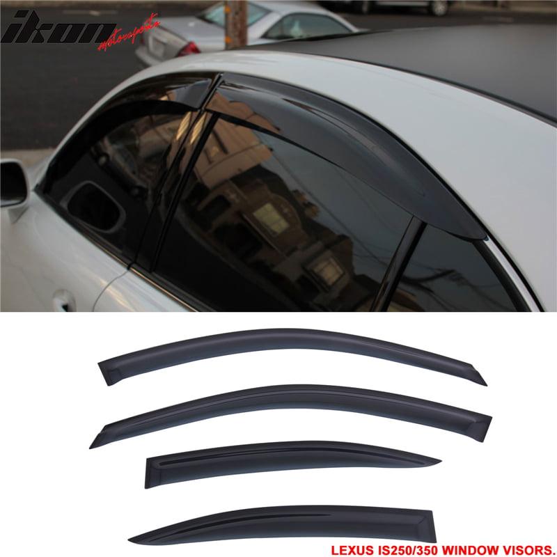 Fit For 06-13 Lexus IS250 350 Window Visors Sun Vent Guar...