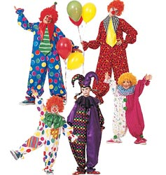 McCall's Children's, Boys' and Girls' and Misses', Men's and Teen Boys' Clown Costume, 020 (2, - Clown Costume Boys