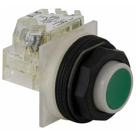 Schneider Electric Non-Illuminated Push Button 30mm Green  Plastic  9001SKR3GH13