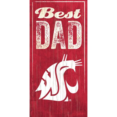 Washington State Cougars 6'' x 12'' Best Dad Sign - No