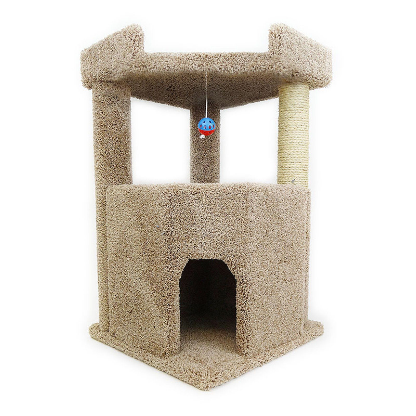 New Cat Condos Corner Roost 33 in. Cat Condo