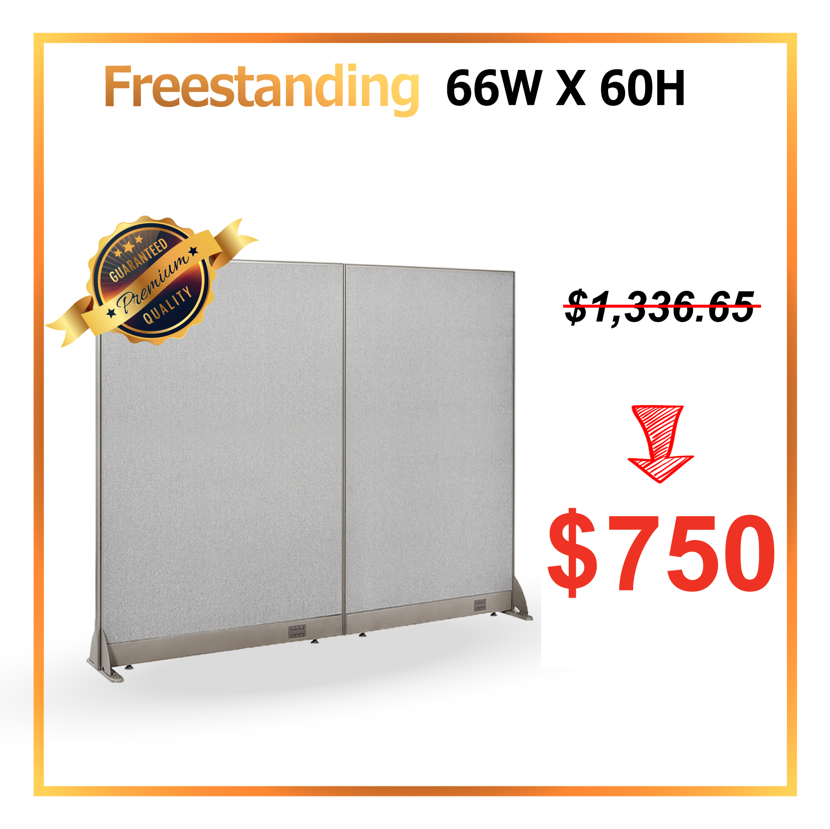 [JULY Special] GOF Office Freestanding Partition Room divider Wall divider Wall panel Office Wall (66 X 60)