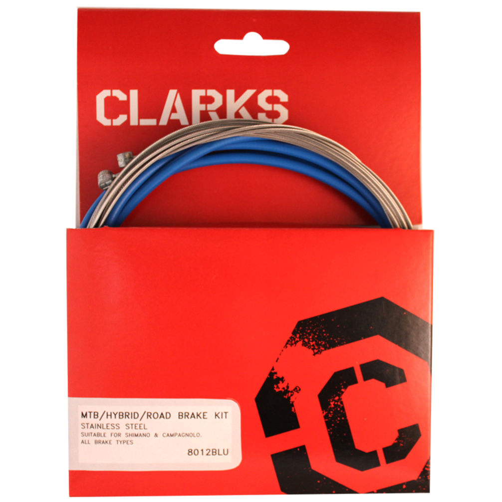 Clarks Cable Brake Kit F R Stainless Sport Road/Mountain Blue
