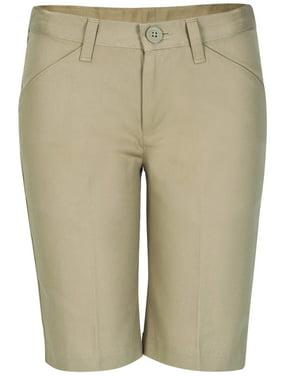Real School Girls Plus School Uniform Flat Front Shorts (Plus)