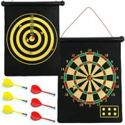 Trademark Games Magnetic Roll-Up Dart Board and Bullseye Game with Darts by TRADEMARK GAMES INC