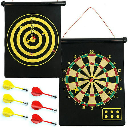 Trademark Games Magnetic Roll-Up Dart Board and Bullseye Game with