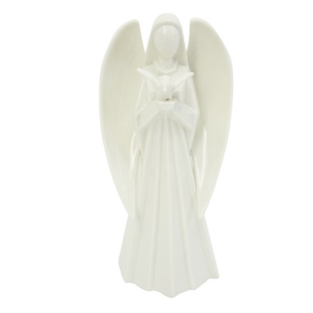 Angel Figurine: Porcelain, 3.93 x 7.99 - Collectible Porcelain Angel Figurine