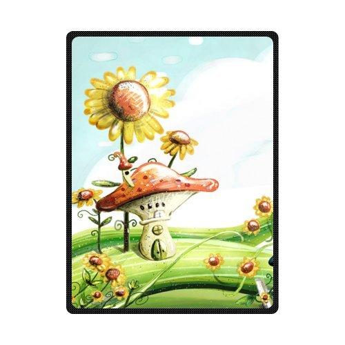 CADecor Lovely Sunflower Mushroom Fleece Blanket Throws 58x80 inches