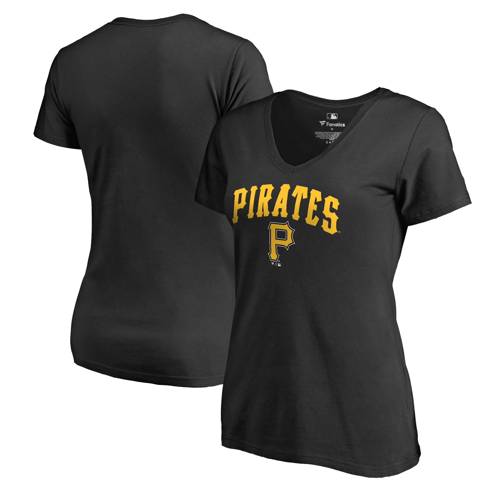 Pittsburgh Pirates Fanatics Branded Women's Cooperstown Collection Wahconah T-Shirt - Black