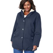 Woman Within Women's Plus Size Sherpa-Lined Hooded Parka