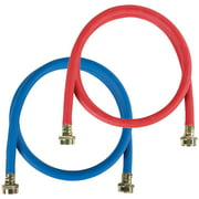 Certified Appliance Accessories WM72RBR2PK 2 Pk Red/Blue EPDM Washing Machine Hoses, 6ft