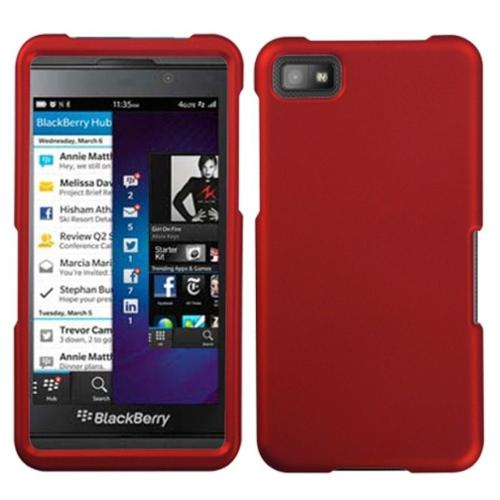 Insten Titanium Solid Red Phone Case for BLACKBERRY: Z10