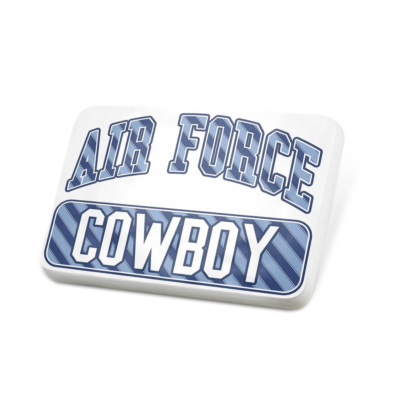 Porcelein Pin Air Force Cowboy, Blue stripes Lapel Badge – NEONBLOND