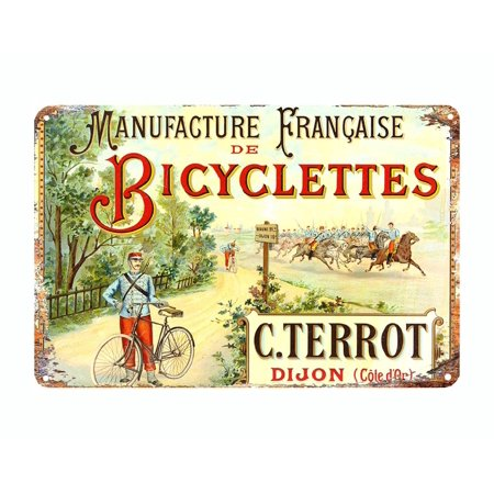 French Bicycles bike .Terrot metal tin sign vintage style reproduction 12 x 8 inches - image 3 of 3
