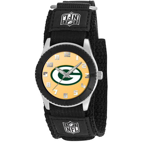 Game Time NFL Men's Green Bay Packers Rookie Series Watch, Black