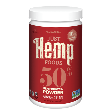 Just Hemp Foods 50% Hemp Protein Powder, Natural, 1.0