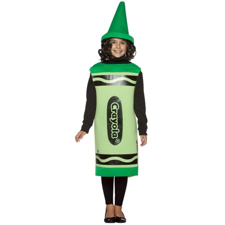 Crayola Green Child Halloween Costume, Size: Girls' - One Size - Girls Plus Size Halloween Costumes
