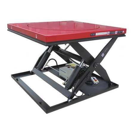 DAYTON 38TJ93 Scissor Lift Table, 3500 lb  Cap, 48