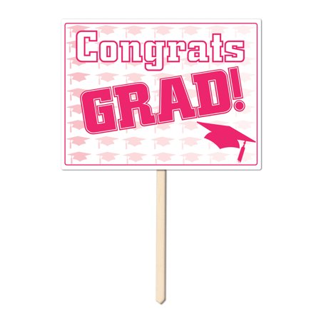 Plastic Congrats Grad Yard Sign (Pack of 6) - image 1 de 1