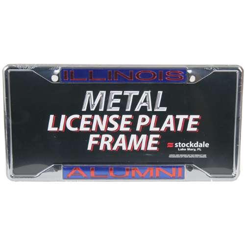Illinois Fighting Illini Metal Alumni Inlaid Acrylic License Plate Frame